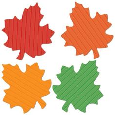 The Holiday Aisle Fall/Thanksgiving FR Tissue Autumn Leaves (Set of School Decorations, Festival Decorations, Table Decorations, Leaf Cutout, Leaf Silhouette, Painted Jars, Christmas Central, Autumn Inspiration, Green And Orange