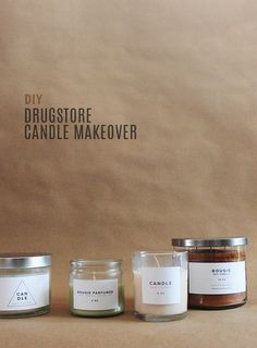 diy drugstore candle