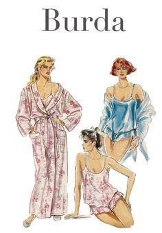 1990s Vintage Burda 4992 Women's Lingerie  by DesignRewindFashions, $15.00