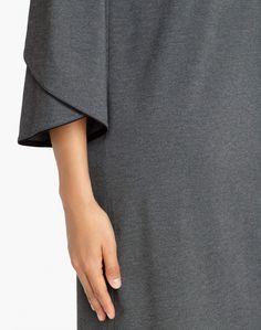 dark nickel lightweight punto milano fabiana dress