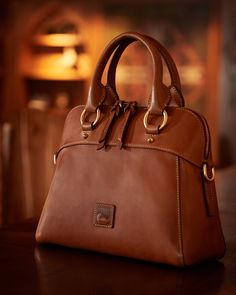 e8400a1420eb #1) Dooney and Bourke Florentine Cameron Satchel in Ginger, Natural, or  Chestnut