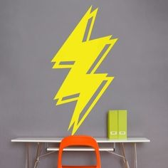 lightning wall decal by beepart on Etsy...and i want this one for our living room!