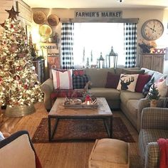 I wanted to share my favorite 65 Modern Farmhouse Christmas Decor today. I love Rustic Christmas Decor all through the year, but it's especially fun to decorate our house in Modern Farmhouse Christmas Decor with pops of plaid, wood &… Continue Reading → Decor, Christmas Home, Living Room Decor, Christmas Living Rooms, Small Living Room, Beautiful Curtains, Farmhouse Christmas, Farmhouse Living, Rustic House