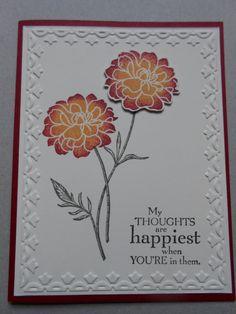 Stampin Up Handmade Greeting Card