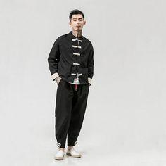 Riska Jacket Cardigan – Kidoriman Chinese Shirt, Mandarin Collar, Dress Codes, Sleeve Styles, Perfect Fit, Om, Kimono, Normcore, Wing Chun