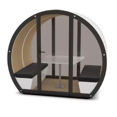 The Meeting Pod Company - Modern, acoustic engagement areas House Blueprints, Commercial Furniture, Solar Panels, Seat Cushions, Acoustic, Garden Pods, Glazed Doors, Modern, Contemporary