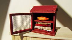 Dollhouse Miniature Pie Safe Cabinet by MyCupTeaMiniatures