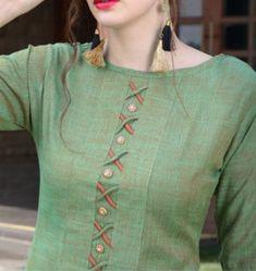 Silk Kurti Designs, Salwar Neck Designs, Kurta Neck Design, Neck Designs For Suits, Sleeves Designs For Dresses, Neckline Designs, Kurta Designs Women, Dress Neck Designs, Kurti Designs Party Wear