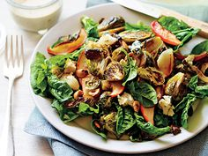 Roasted Brussels Sprout and Apple Salad Recipe  | Epicurious.com