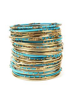 Marakesh Bangle Bracelet Set by Amrita Singh
