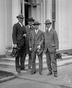 Washington DC, Press Photographers with Cameras on Steps