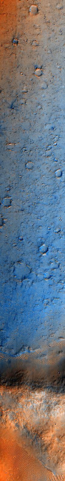 Martian Crater Floor, variant | by sjrankin Edited Mars Reconnaissance Orbiter image