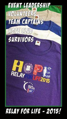 2015 Relay For Life shirts #RFL2015 #RFLSanRamon
