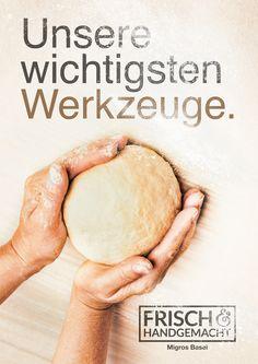 Arbeit für die Hausbäckereien der Migros in der Nordwestschweiz #Migros #Frisch Baker Man, Bread Baking, Camembert Cheese, Food, Advertising Agency, Fresh, Baking, Eten, Meals