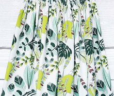 Skirt in leaves,jungle print,cotton skirt,forest print,skirts for women,elastic waist skirt,knee length skirt,pleated skirt,flared skirt Skirt Pleated, Flared Skirt, Pastel Skirt, Elastic Waist Skirt, Jungle Print, Cotton Skirt, Printed Skirts, Printed Cotton, Leaves