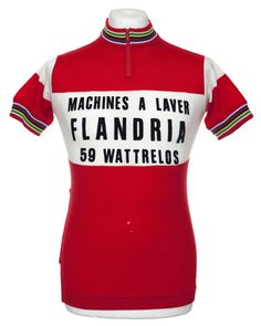 dc024bab7 FLANDRIA VINTAGE CYCLING JERSEY MAILLOT CYCLISTE MAGLIA EROICA TOP Sz S