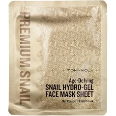 Tony Moly Age-Defying Snail Hydro-Gel Face Mask Sheet ($9) ❤ liked on Polyvore featuring beauty products, skincare, face care, beauty, anti aging skincare, tony moly, antiaging skin care and anti aging skin care