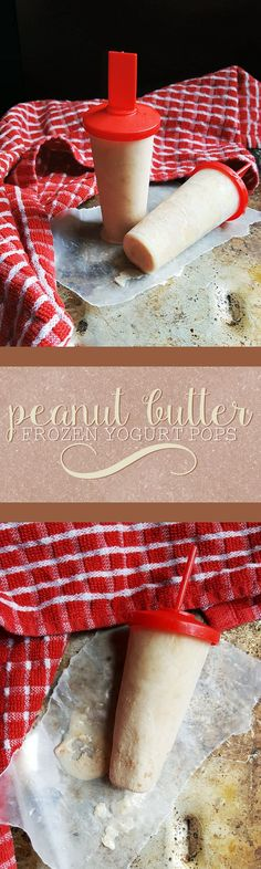 These creamy peanut butter frozen yogurt pops are a sweet way to cool down…