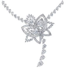 De Beers. The lotus flower's petals unfurling with the sun are captured in our Blooming Lotus motif. This stunning combination of pear, marquise and baguette-cut diamonds can be worn as a brooch or as the centrepiece of a dazzling necklace