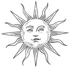 Sun tattoo - something similar, a bit more decorative