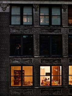 Looking through night windows at a slice of life, photographed by Gail Albert Halaban