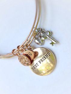 Charm bracelets Loyal Dreamer and Best Friend by JadesCreatedJems