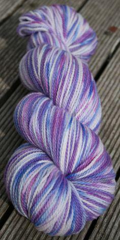 Pastel Purples ~ White Gum Wool, 4ply/fingering weight, Ethical, Australian superfine merino, varigated. by AngiesStudioYarn on Etsy
