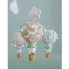Travel themed baby mobile hot air balloon baby mobile vintage travel theme nursery aqua and tan . Travel Theme Nursery, Nursery Decor Boy, Baby Room Decor, Nursery Themes, Themed Nursery, Baby Bedroom, Baby Boy Rooms, Baby Boy Nurseries, Deco Pastel