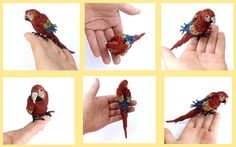 Parrot shoulder brooch, unusual crochet wire jewelry | Flickr - Photo Sharing!