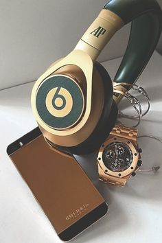 "johnny-escobar: ""G&Co. Rose gold iPhone x Audemars Beats & watch 