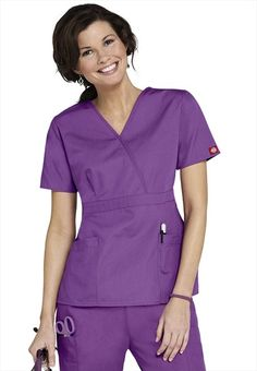 d33d1fd19ab dickies eds medical uniforms empire waist fashion scrub top need some  purple scrubs