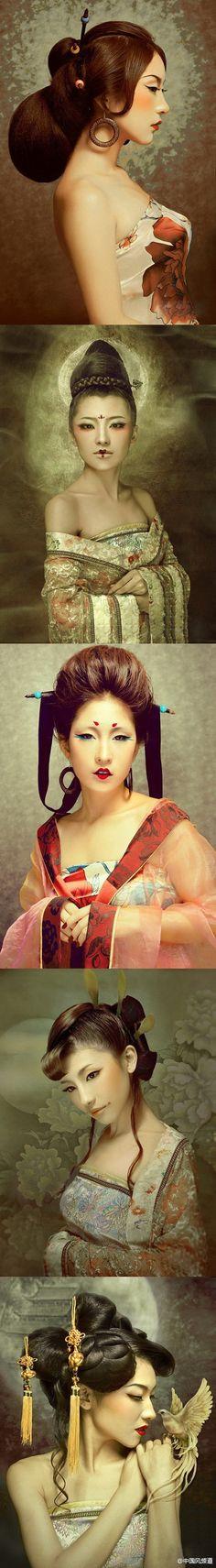 复古时尚造型,很美很中国风很霸气。
