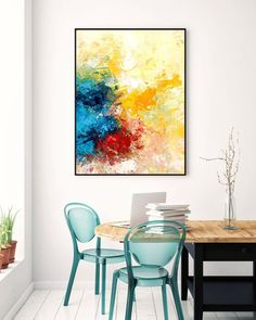 Contemporary wall Art - Extra Large Wall Art Original Art Bright Abstract Original Painting On Canvas Extra Large Artwork Contemporary Art Modern Home Decor Large Abstract Wall Art, Large Artwork, Extra Large Wall Art, Canvas Wall Art, Gold Canvas, Canvas Canvas, Hallway Art, Hallway Ideas, Original Paintings