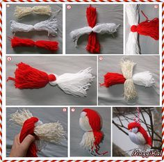 66 ideas for knitting animals pom poms – Yarn Crafts Bird Crafts, Easter Crafts, Fun Crafts, Diy And Crafts, Christmas Crafts, Arts And Crafts, Yarn Animals, Knitted Animals, Crafts For Teens To Make