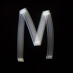 marcus byrne turns iPhone painted light into font + 3D letter