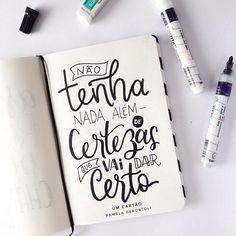 Acredite e aja que só assim seus sonho se tornarão realidade!  Frase do @umcartao  #handmade #lettering #letteringbrasil #caxiasdosul #handlettering #quotes #frasesmotivadoras #dailylettering #motivacional #dreamers Creative Lettering, Brush Lettering, Go For It, Letter E, Motivational Phrases, Calligraphy Letters, Typography Quotes, Music Quotes, Quotes To Live By