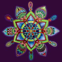 The Self Mandala by Eitan Kedmy ~ not a mandala, just a geometric art design