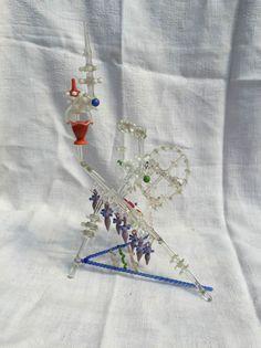 antikes Spinnrad aus Glas, Lauscha, Handarbeit um 1900, farbiges Glas in Antiquitäten & Kunst, Design & Stil, 1890-1919, Jugendstil   eBay