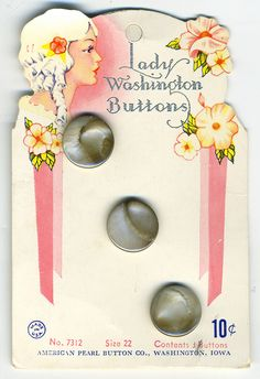 GButtons--Lady Washington grey pearls  I LOVE the button card!