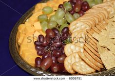 Fruit Cheese Cracker Tray Stock Photo (Edit Now) 6006751 Grapes And Cheese, Cheese Fruit, Cheese Platters, Dinner Party Appetizers, Appetizer Recipes, Dinner Parties, Cheese And Cracker Platter, Wedding Snacks, Wedding Ideas