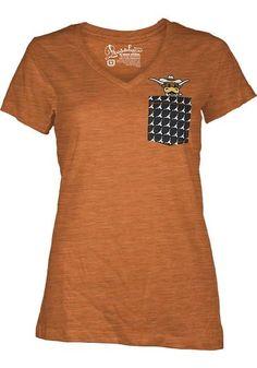 Texas Longhorns Womens Pocket V-Neck Short Sleeve T-Shirt http://www.rallyhouse.com/shop/texas-longhorns-womens-orange-emerald-vneck-tshirt-22640514?utm_source=pinterest&utm_medium=social&utm_campaign=Pinterest-TexasLonghorns $24.99