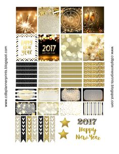 Please comment below if you are using! The more comments and downloads the more free printables I create! *Gold New Years* Made to ...