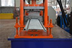 #White #Color #Door #Shape #Roll #Forming #Machine used casting frame,this is kind of casting frame never cutting and welding,so this frame very strong and high precision.This kind of frame have long life working time.White Color Door Shape Roll Forming Machine,we used double bearings,so we make sure machine working low noise and more stable working.