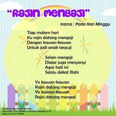 Rajin Mengaji (original song Pada Hari Minggu) Islam For Kids, Self Reminder, Original Song, Kids Songs, Theme Song, Quran, Singing, Education, Islamic