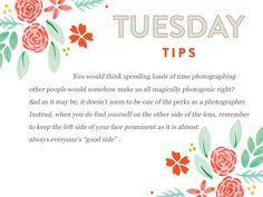 Who knew?  Happy Tuesday Tips!  http://www.everythingbloom.com/tuesday-tips-157-%C2%B7-the-photogenic-photographer