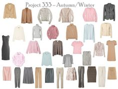 Project 333: camel & grey, step by step   The Vivienne Files