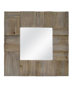 Reclaimed Wood Accent Mirror by MCS Industries #zulily #zulilyfinds
