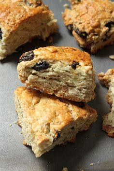Irish Soda Bread Scones with Honey Cinnamon Butter