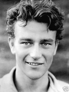 JOHN WAYNE, so very young.  No wonder my mom and grandmom always thought he was dreamy!