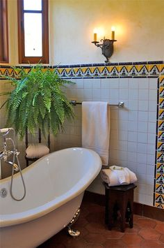 Spanish Style Home Traditional Bathroom San Francisco Melanie Giolitti Interior Design White Tile Framed In Fun Tile